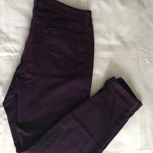 LOFT Jeans - Eggplant Ann Taylor Loft Curvy Skinny 👖 Size 12